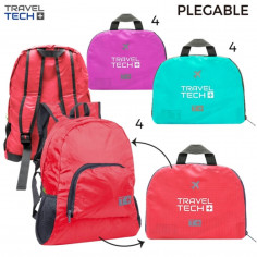 Bolso plegable Art. TRA 10373 nylon 100% c/ bolsillo y red laterales