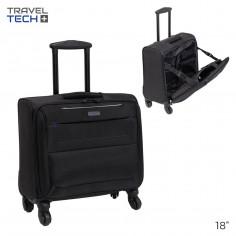 Portanotebook c/ CARRO Art. TRA 26377 nylon 100% c/ 4 ruedas spinner simples