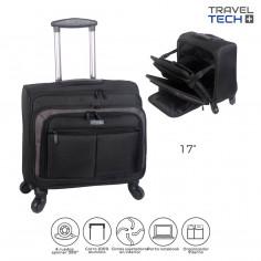 Portanotebook c/ CARRO Art. TRA 26376 nylon 100% c/ 4 ruedas spinner simples