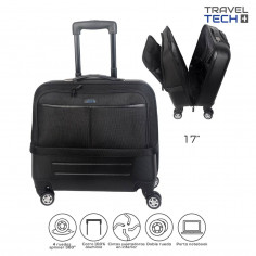 Portanotebook c/ CARRO Art. TRA 26370 ABS y nylon c/ 4 ruedas spinner dobles