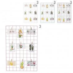 Porta fotos Art. TDY 10397 hierro 100% (65x45 cm.) c/ brochecitos