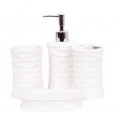 Set de baño Art. TDY 10430 cerámica esmaltada 95% PVC 5% x4 accesorios