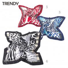 Pañuelo Art. TDY 10626 seda poliéster 100% animal print (90x90 cm.)