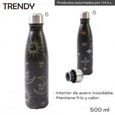 Botella termo 500 ml. Art. TDY 10922 acero inoxidable 100% 304L - frio / calor