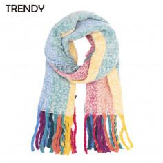 Bufanda Art. TDY 8837 poliéster 100% multicolor (200x60 cm.)