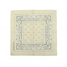 Pañuelo bandana Art. TDY 9799 algodón 100% c/ pétalos (55x55 cm.)