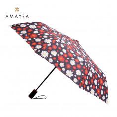 Paraguas corto automático Art. AMA 67.P6032.3 ROJO poliéster 100% estampado c/ 8 varillas