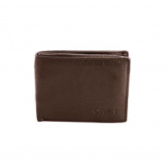 Billetera Art. OWE MK-1609.2 CHOCOLATE cuero legítimo c/ cierre billetes y portafotos