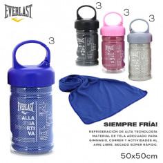 Botella toalla fría Art. EVE 11301.4 AZUL poliéster 100% c/ refrigeración y secado rápido