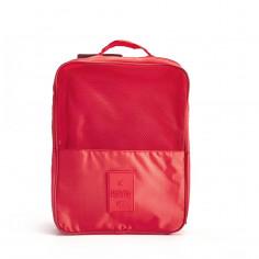 Organizador de zapatos Art. TRA 10854.3 ROJO nylon 100% c/ bolsillo red c/ cierre