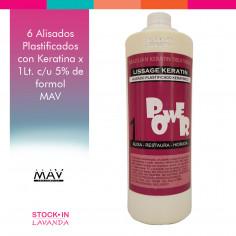 6 Alisados Plastificados Con Keratina X1l. 1 C/u (5%) - MAV Professional