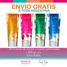 30 Cremas De Manos Y Cuerpo Perfumadas X200grs C/u Lola Puga