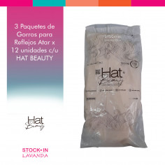 3 Paquetes De Gorros Para Reflejos Atar X12u C/u Hat Beauty