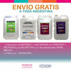 4 Shampoo X 5 Litros C/u - Elevacion