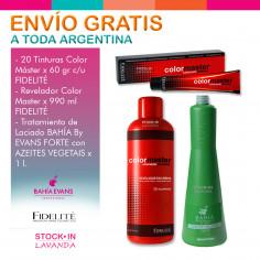 20 Tinturas Fidelite + 1 Agua X 900ml + Alisado Forte Bahia