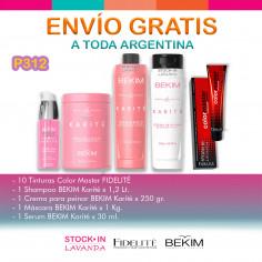 10 Tinturas+Shampoo+crema De Peinar+mascara+serum - Bekim