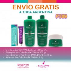 15 Tinturas+SHampoo+Acondicionador+Mascara - Bahia Evans