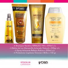 6 Shampoo + 6 Máscaras + 6 Spray + 6 Protectores - Iyosei