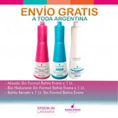 Alisado + Biohialuronic + Bahía Keratin X1l C/u Sin Formol