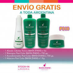 Alisado+Shampoo+ Acondicionador+Mascara - Bahia Evans