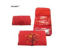 Cartuchera Art. OWE PB001T poliéster 100% rojo c/ árbol