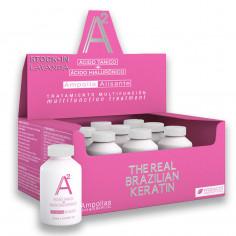 Ampolla Alisante A2 Acido Tanico+Acido Hialuronico ( CAJA x 9 ) x25 Ml. - THE REAL BRAZILIAN KERATIN