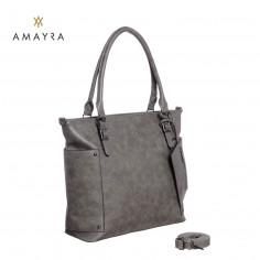 Cartera Art. AMA 67.C3126.3 GRIS ECO cuero c/ monedero y bolsillos laterales