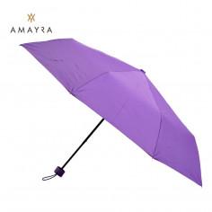 Paraguas corto manual Art. AMA 67.P6035.2 VIOLETA poliéster 100% liso c/ 8 varillas