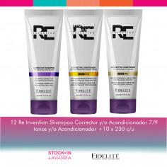 12 Shampoo Y/o Acondicionador Correctores x 230 Grs c/u - Fidelite