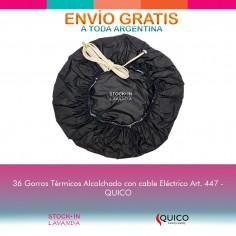 36 Gorros Térmicos Acolchados Con Cable Eléctrico Art 447 - Quico