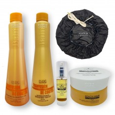 Shampoo Reconstructor x340grs + Acondicionador x340grs + Mascara x300grs+ Serum x50ml+ Gorro Termico
