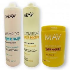 4 Shampoo x1lt  c/u + 4 Acondicionadores x1l c/u + 4 Mascaras Argan x1kg c/uEver Nature - Mav