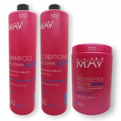 4 Shampoo x1lt c/u+ 4 Acondicionadores x1lt c/u + 4 Mascaras Capilares x 1kg c/u Macadamia y Caviar - Mav
