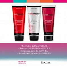 12 Shampoo Acidoy/o Neutro+ Acondicionador Acido x230 Color Master - Fidelité