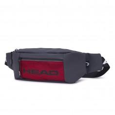Riñonera Art. HEA 20955.1 GRIS OSCURO ECO cuero c/ bolsillo red y tira polipropileno HEAD