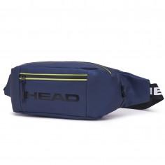 Riñonera Art. HEA 20956.2 AZUL OSCURO ECO cuero c/ bolsillo y tira polipropileno HEAD