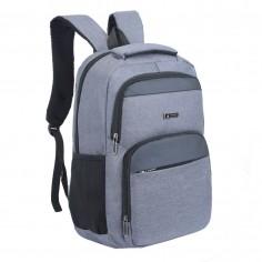 Mochila portanotebook 18 Pulg. Art. WEL 50664.2 GRIS nylon 100% c/ bolsillos y cierres
