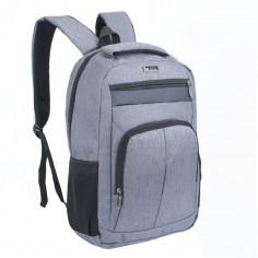 Mochila portanotebook 18 Pulg. Art. WEL 50665.2 GRIS nylon 100% c/ bolsillos y cierres
