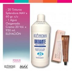 20 Tinturas Splendore Mav + 1 Oxidante x900Ml Elevación