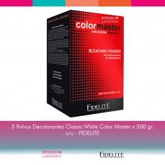6 Polvos Decolorantes Classic White X500GR. - FIDELITÉ - COLOR MASTER