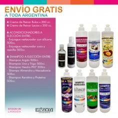 12 Cremas de Peinar x200cc c/u + 12 Shampoo y/o Acondicionadores x500cc c/u - Elevacion