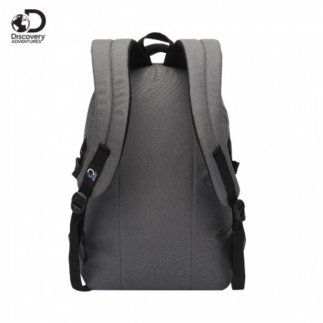 Mochila Portanotebook 18 Pulg. Art. DIS 20212 nylon 100% c/ bolsillos y doble compartimento